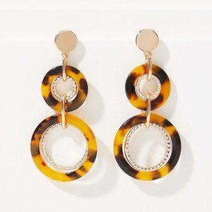 NWT Pave Linked Resin Drop Earrings